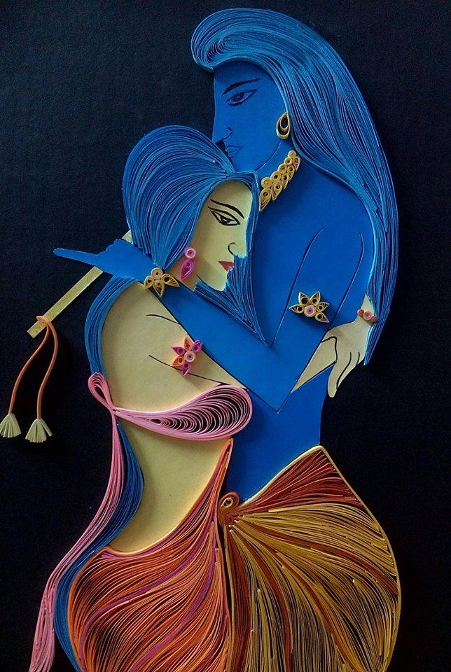 Quilling Radha Krishna