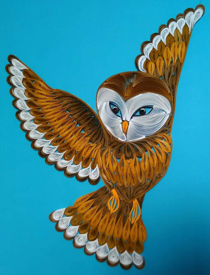 Quilling Owl