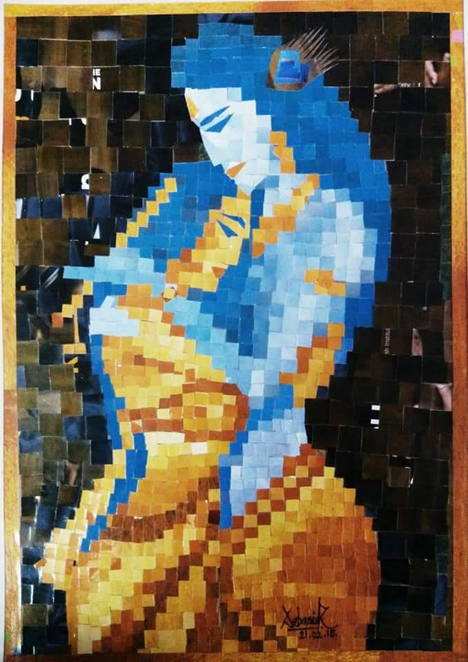 Paper Mosaic Portrait