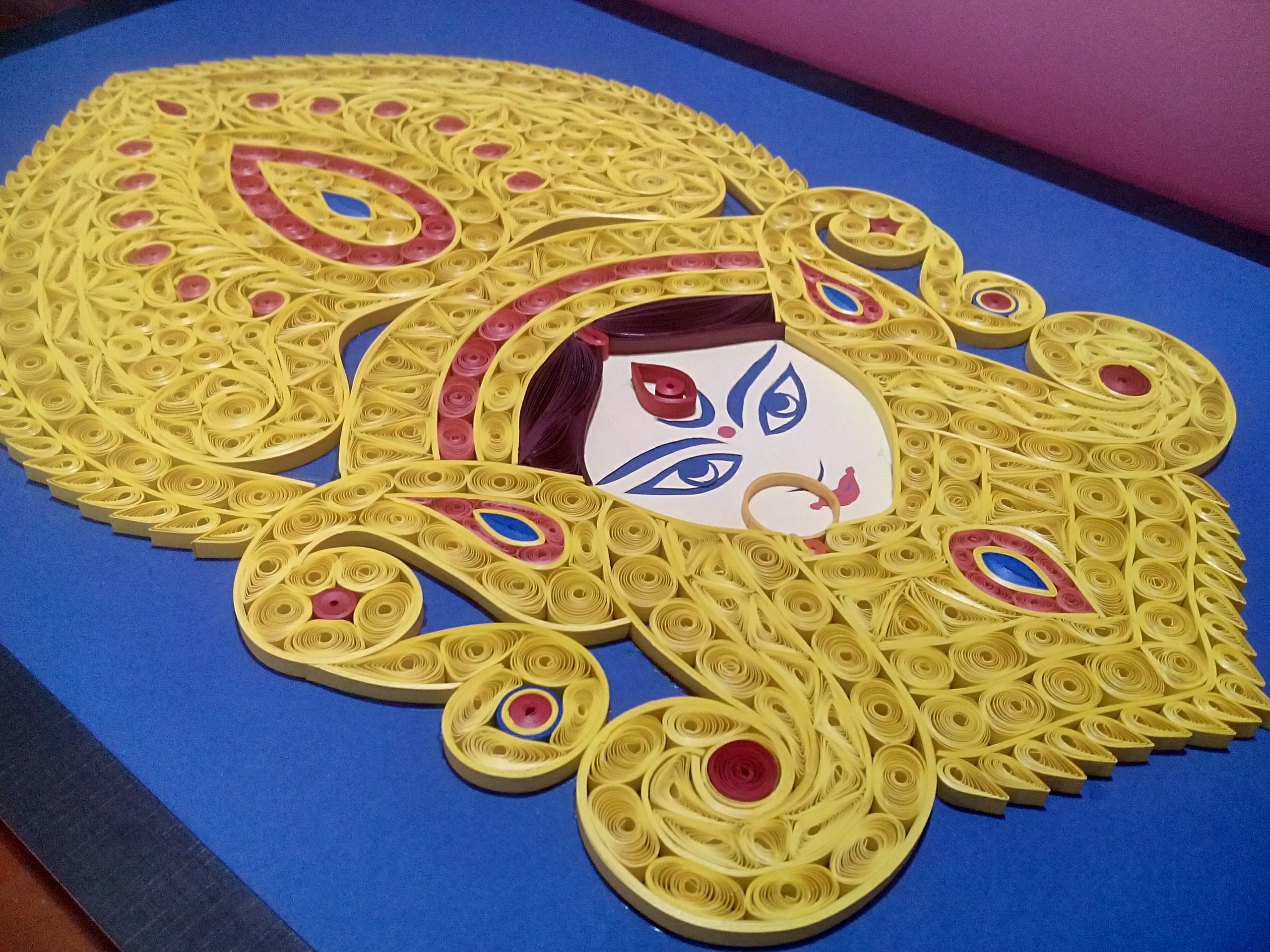 Quilling Durga | How to make Quilling Portrait of Goddess Durga