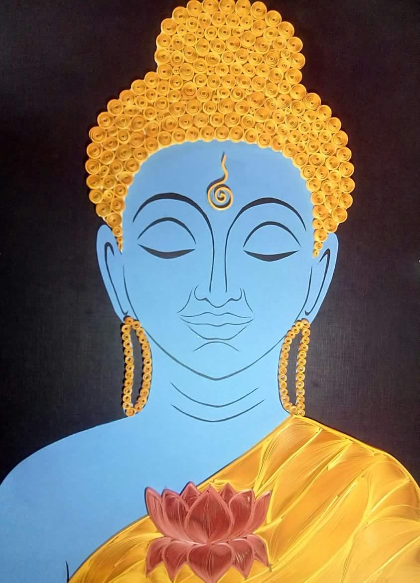 Quilling Buddha