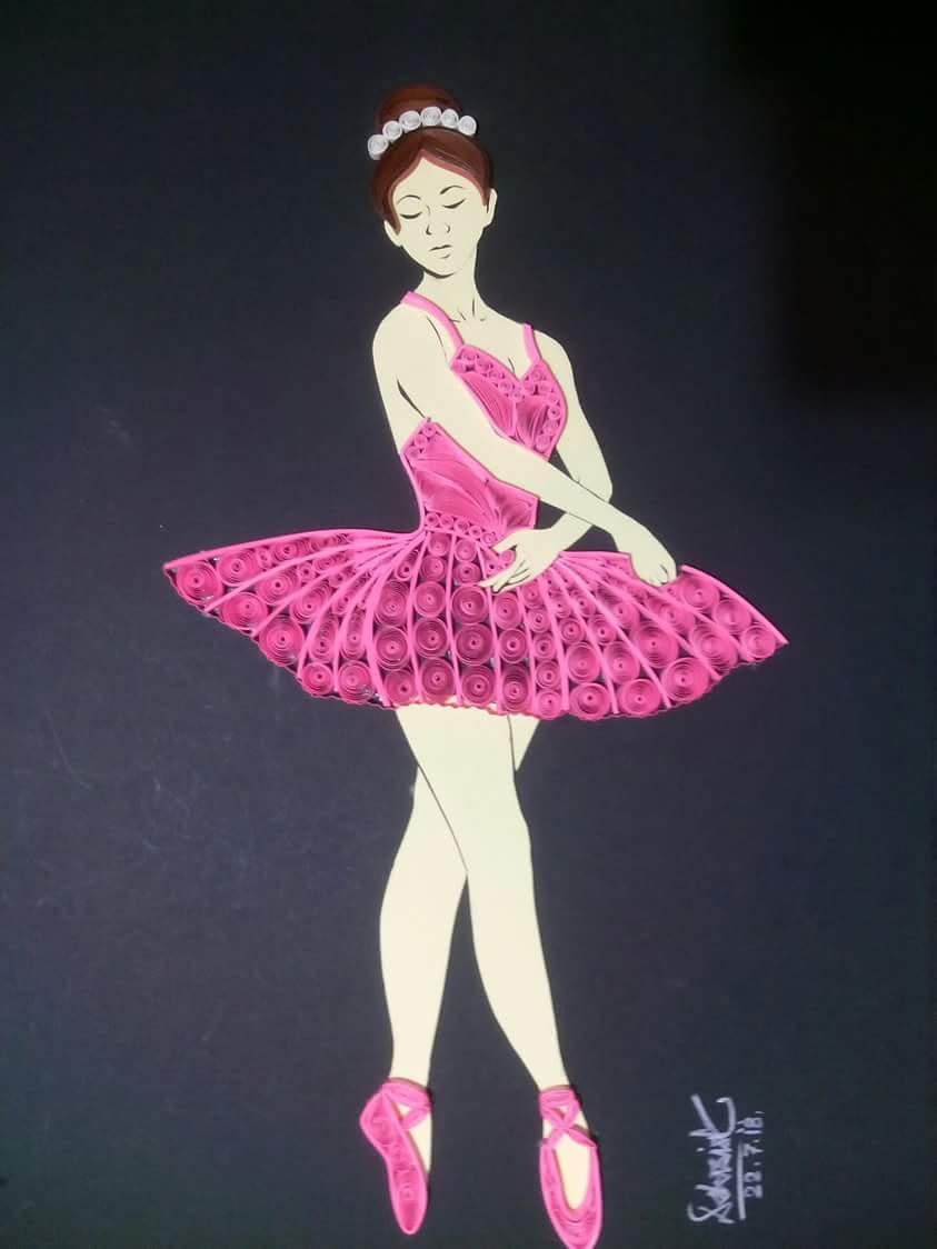 Quilling Ballerina ( Dancer )
