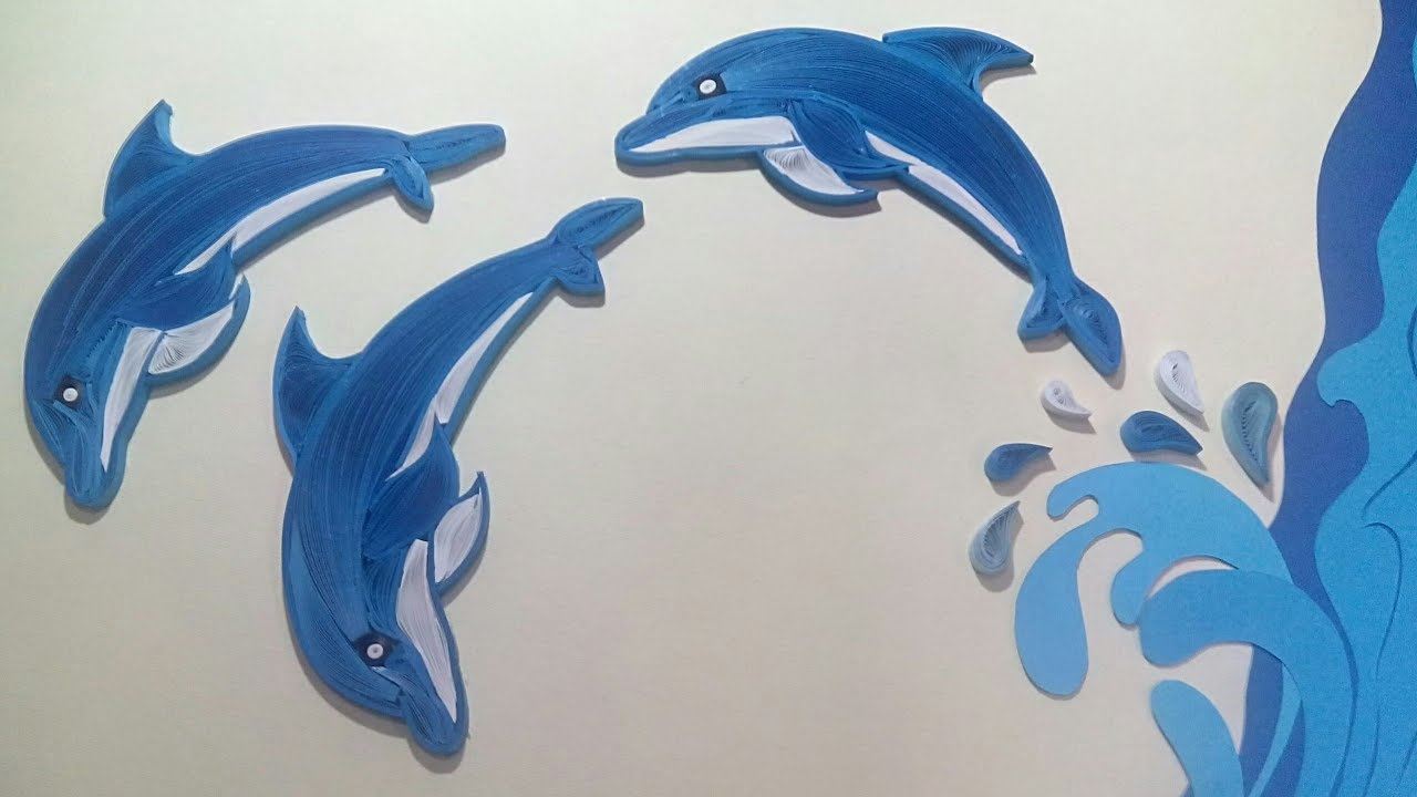 Quilling Dolphin | Wildlife scenery making using Quilling and Kirigami