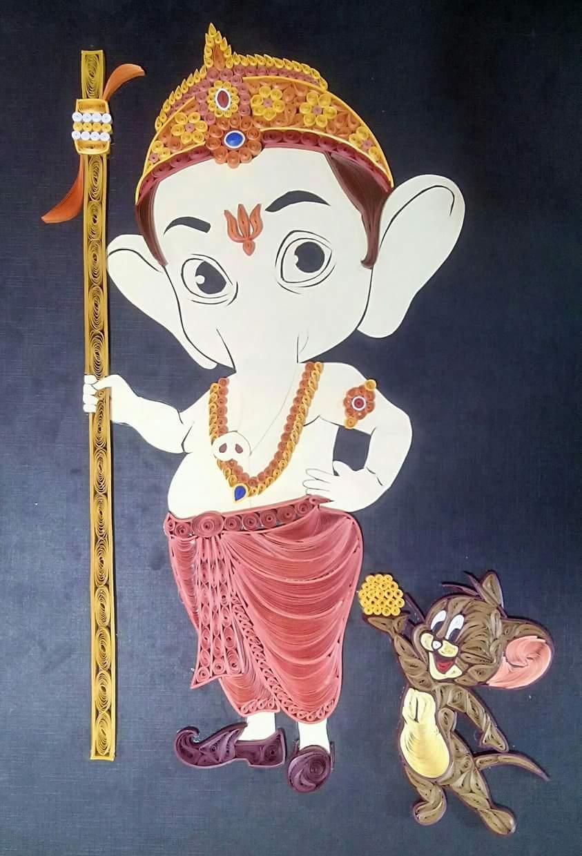 Quilling Chota Ganesha