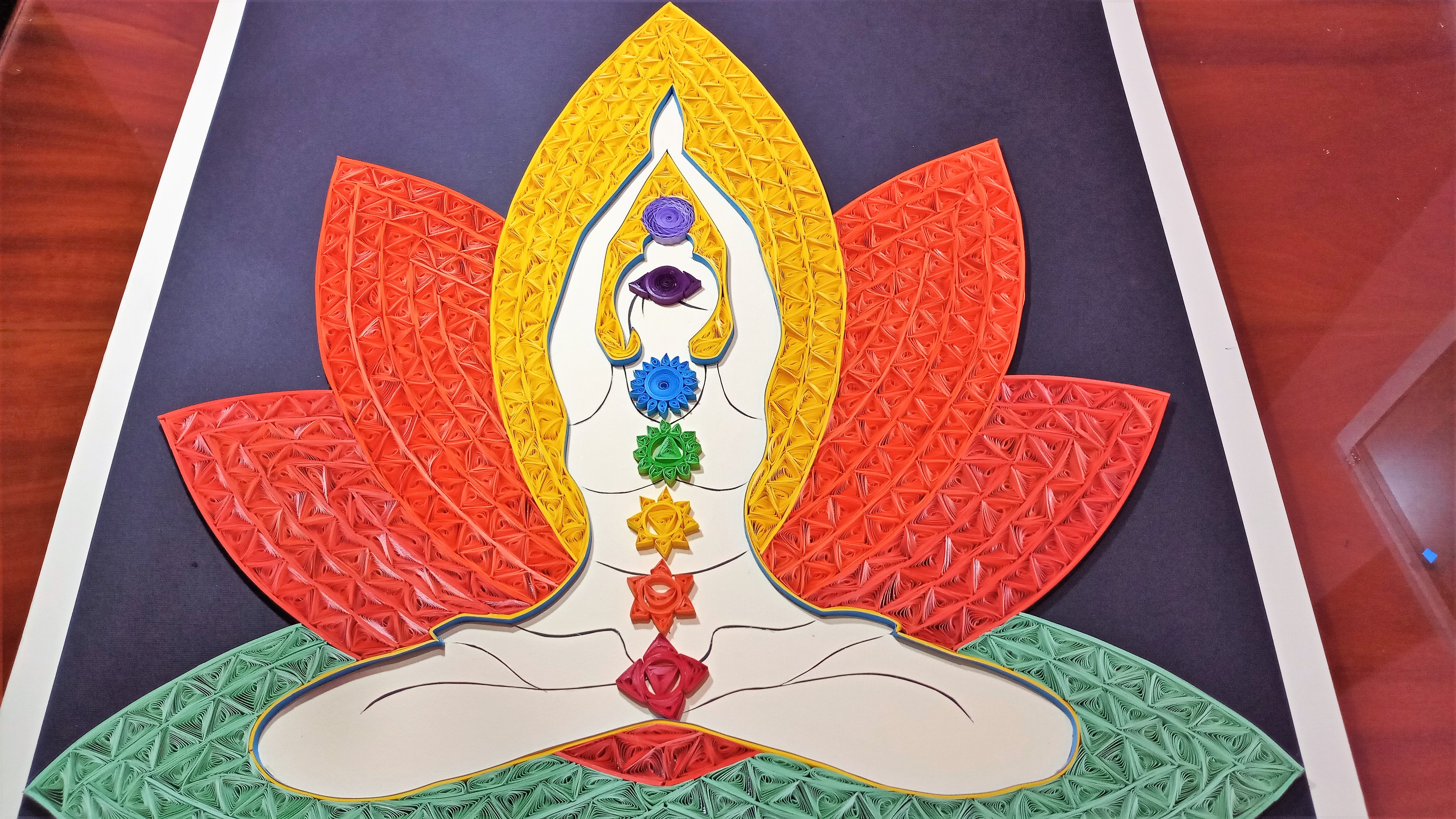 World Yoga Day Quilling Wall Hanging | Learn to make Quilling Portrait