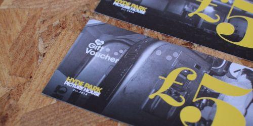 Photograph of cinema vouchers