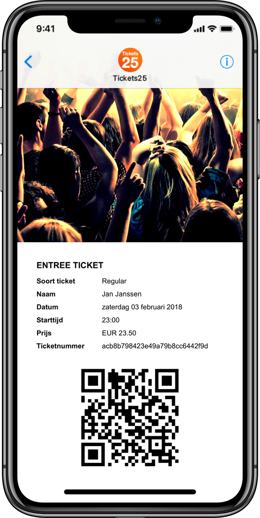 Pleinvrees ticket on iphone