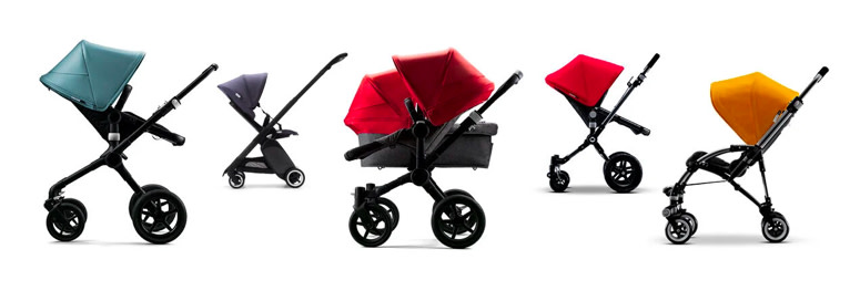 Strollers with different colors