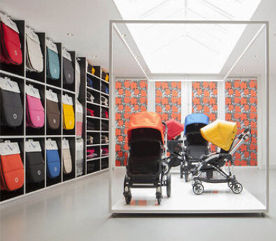 Bugaboo store with strollers