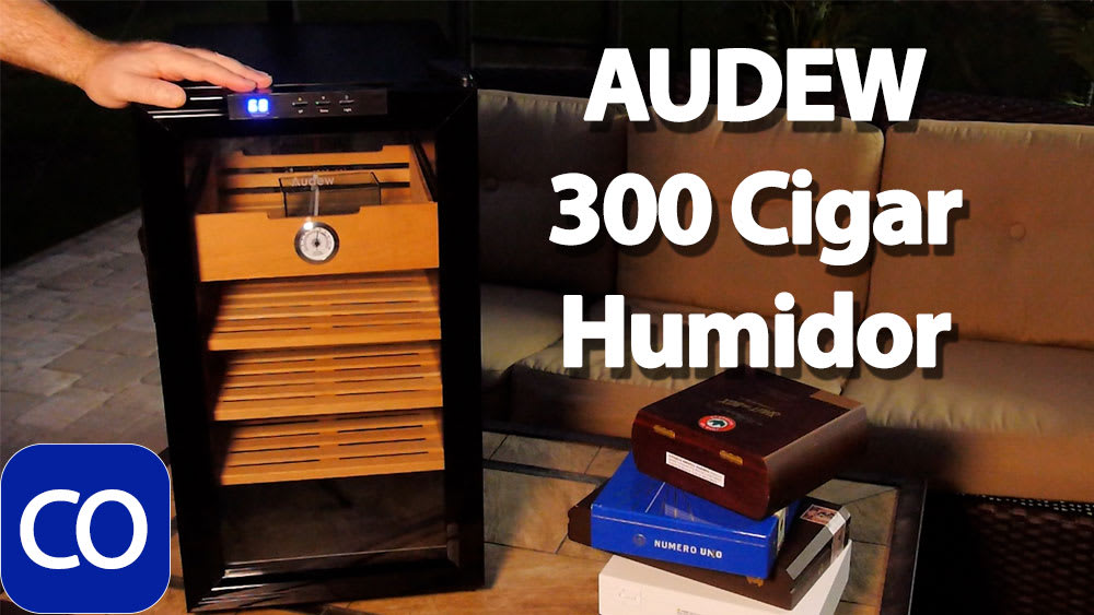 AUDEW 300 Cigar Electronic Humidor Review Featured Image