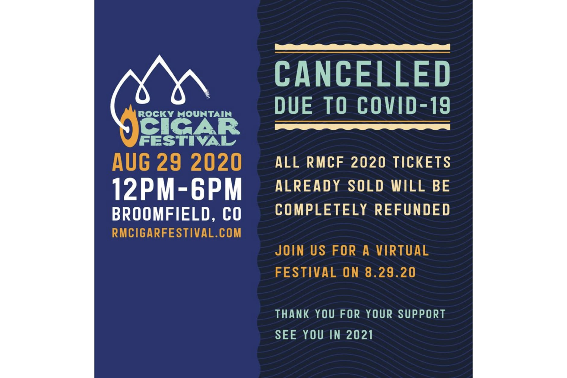 Rocky Mountain Cigar Festival 2020 Canceled Featured Image