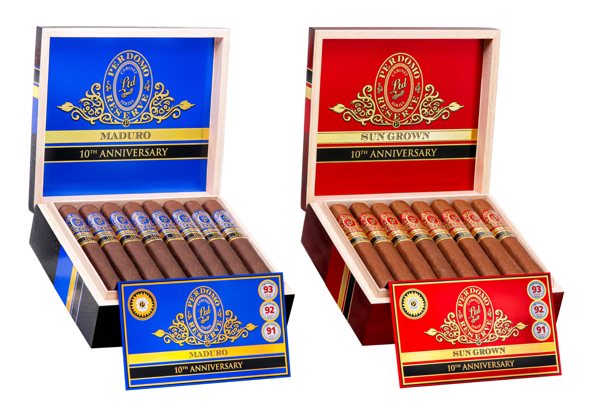 Perdomo Reserve 10th Anniversary Box-Pressed Maduro & Sun Grown Shipping in August Featured Image