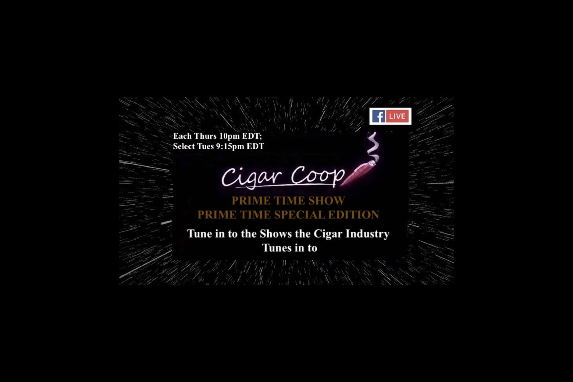 Watch: Charlie Minato on Cigar Coop's Prime Time Show (9:00 P.M. CDT) Featured Image