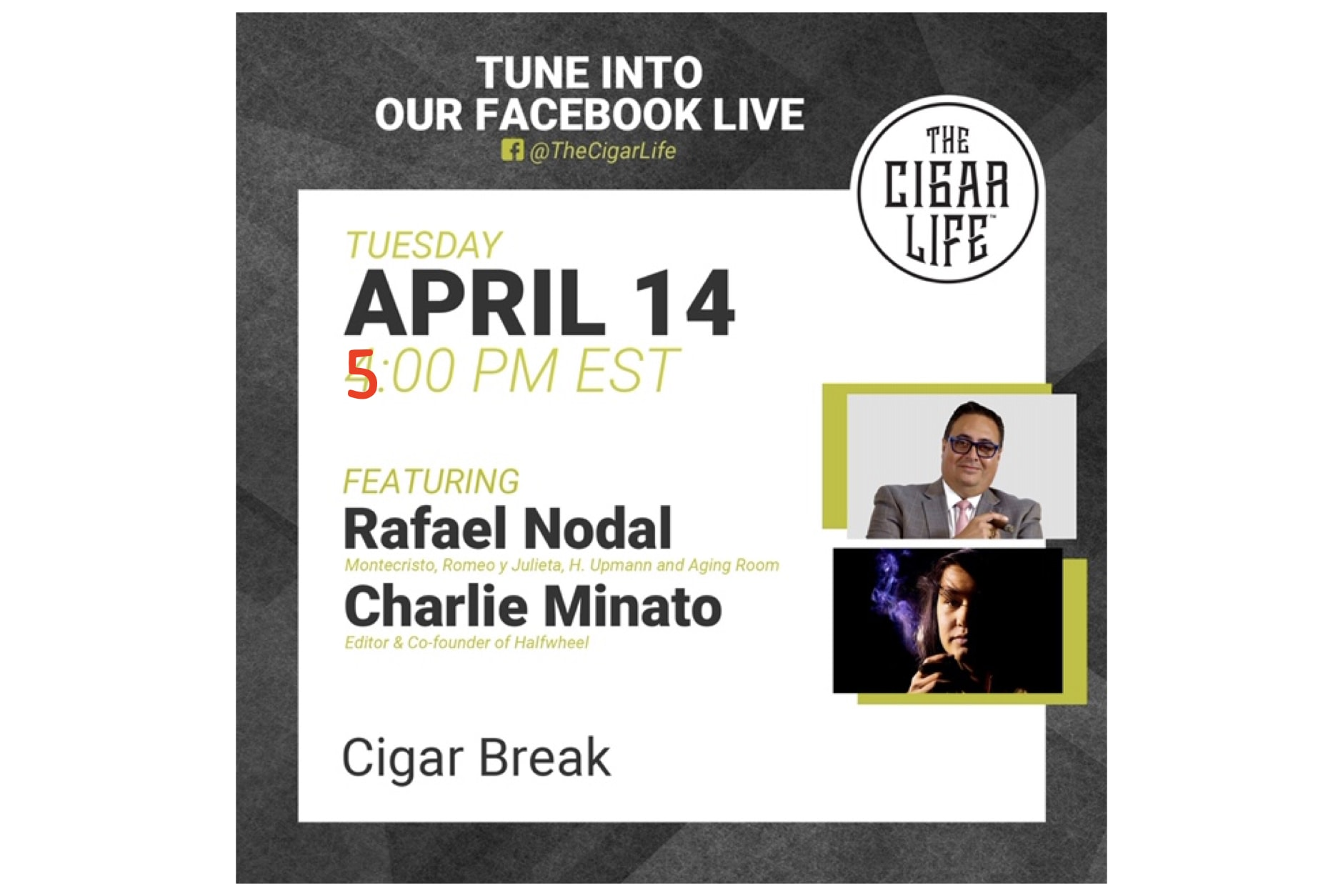 Watch: Charlie Minato on The Cigar Life (5:00 P.M. EST) Featured Image