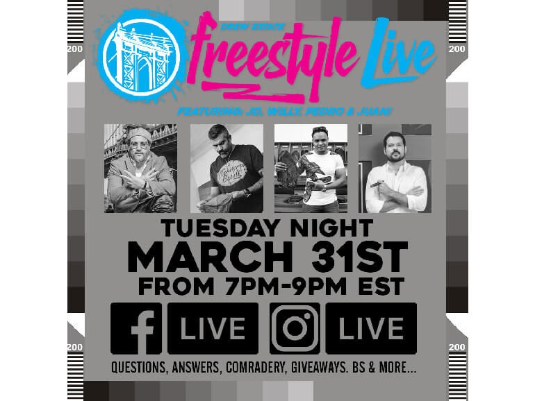 Drew Estate Announces Freestyle Live Virtual Herf March 31st Featured Image