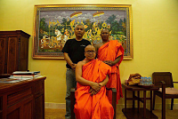 Filming documentary on a monk's...