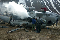 India's military helicopter crashed