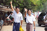 Myanmar releases two Reuters...