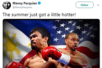 Manny Pacquiao will meet Keith...
