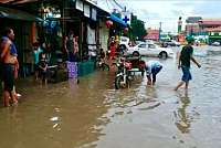 Rainstorm flooded the homes of people...