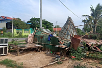 More than 800 houses damaged after...