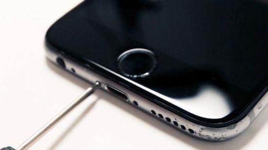 Apple iPhone 6 Homebutton Reparaturanleitung Schritt 1: Entfernung der Gehäuseschrauben