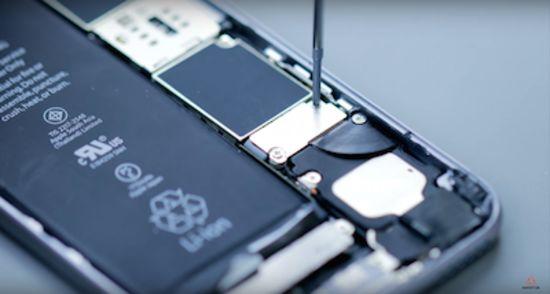 Apple iPhone 6s Akku Reparaturanleitung Schritt 2: Entfernen der Abdeckung