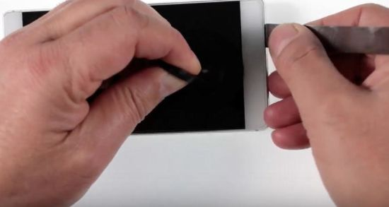 Huawei P8 Akku Reparaturanleitung Schritt 1: Anhebung des Huawei P8 Displays