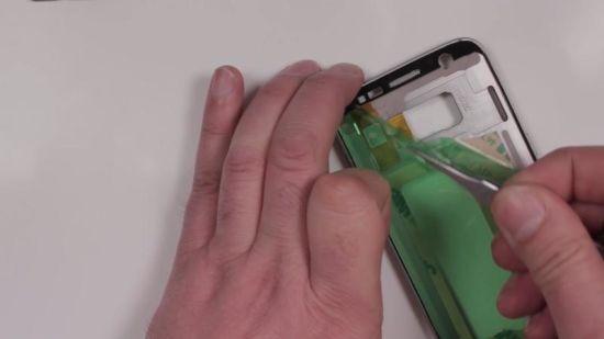 Samsung Galaxy S7 Display Reparaturanleitung Schritt 11: Kleberahmen befestigen