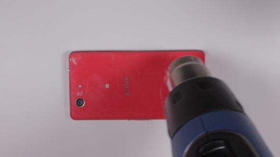 Sony Xperia Z3 Compact Backcover Reparaturanleitung Schritt 1: Backcover erwärmen