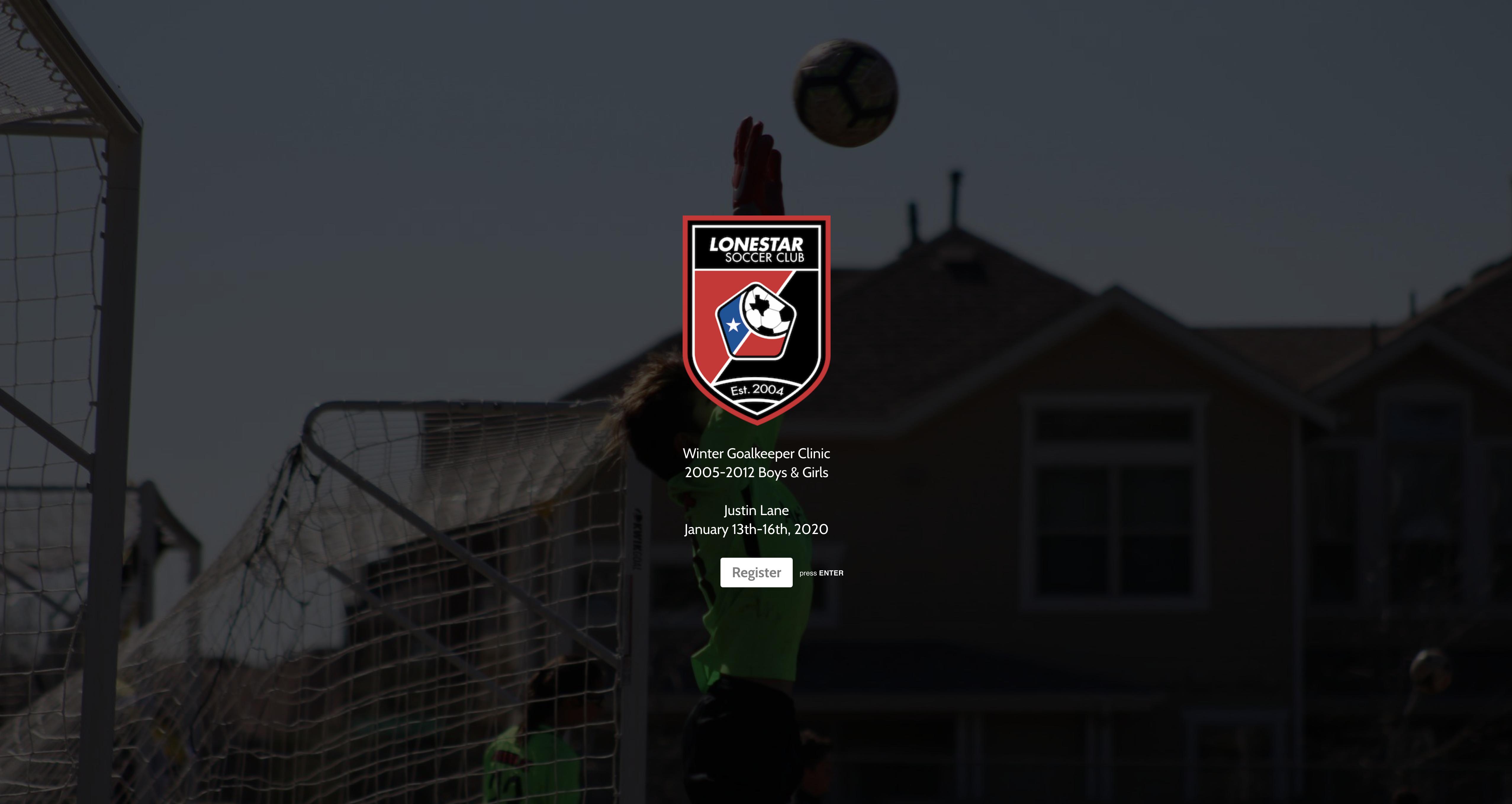 Winter Goalkeeper Clinic logo