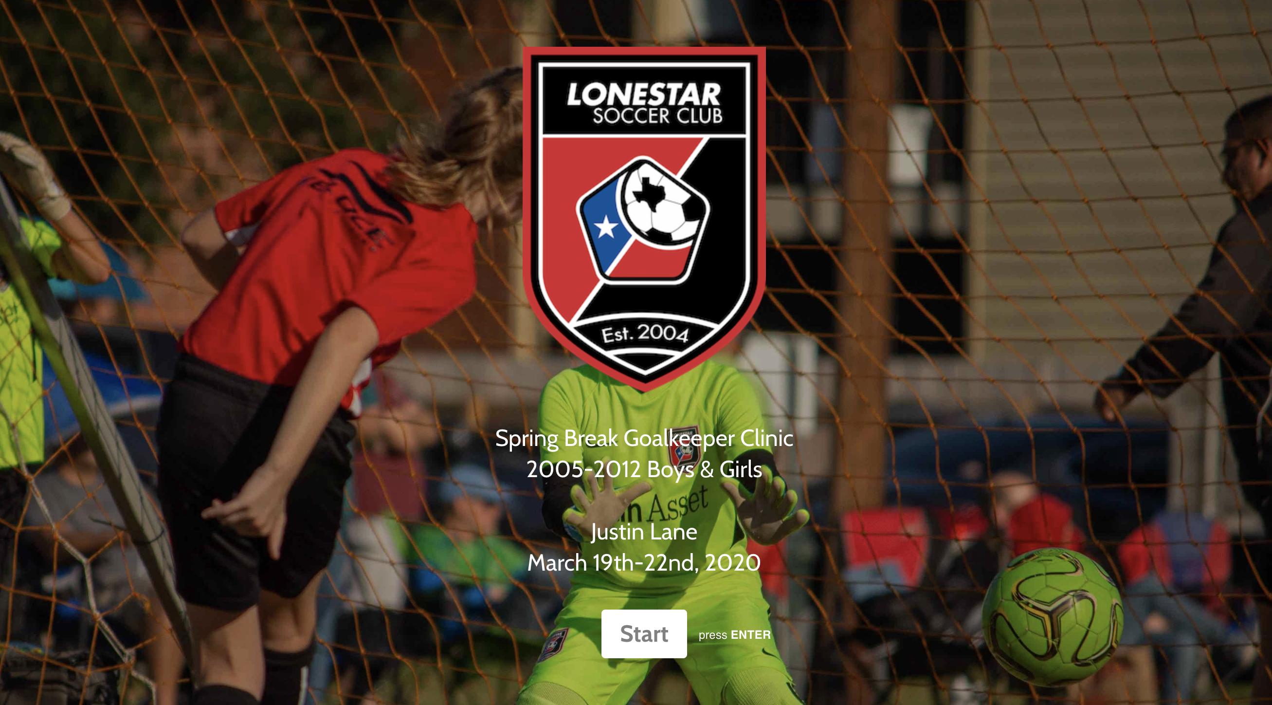 Spring Goalkeeper Clinic logo