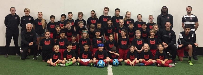 Winter Soccer Camp/Clinic players & coaches