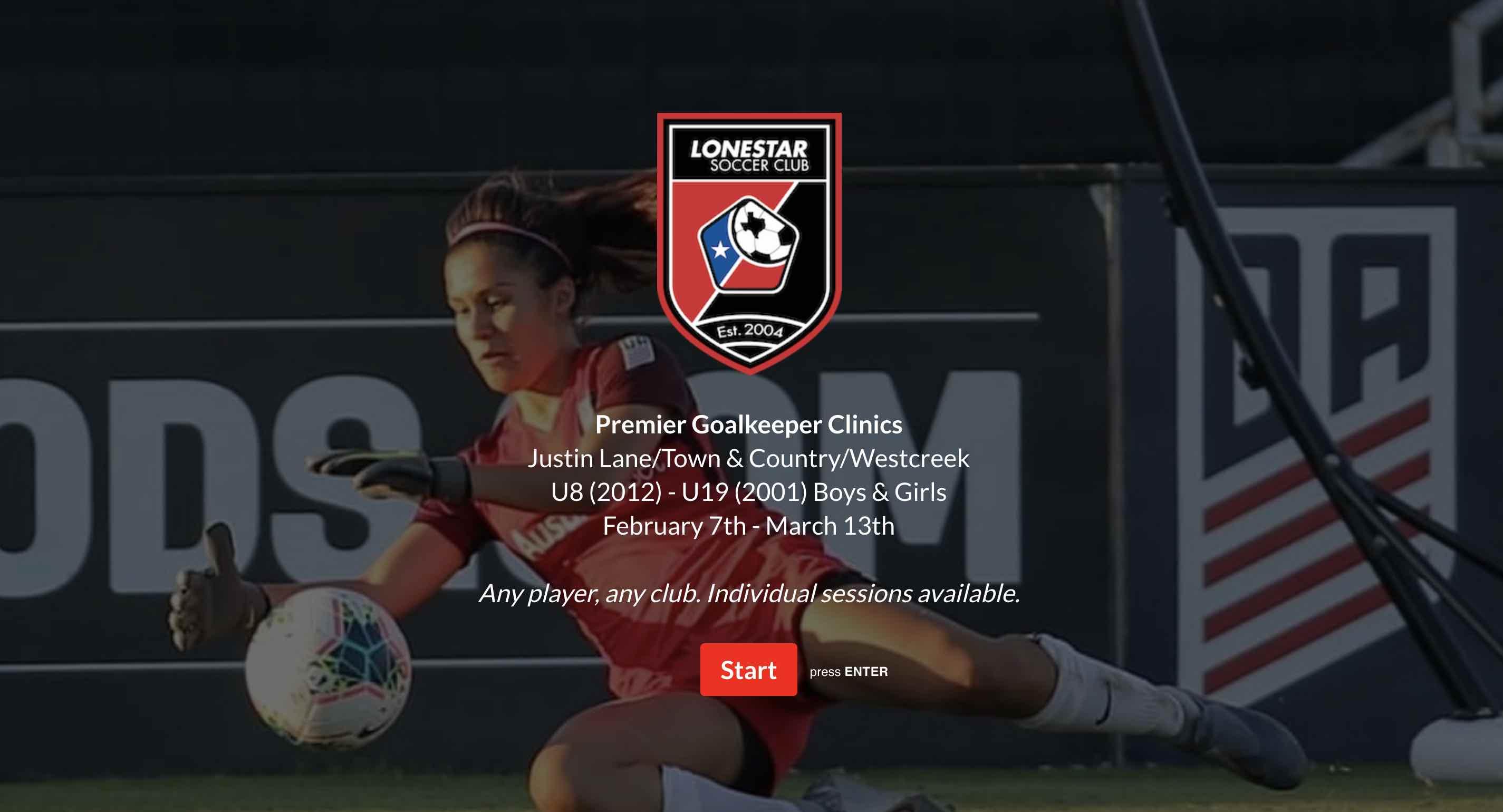 Premier Goalkeeper Clinics logo