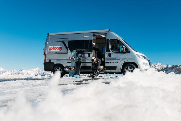 Met de camper op wintersport vakantie