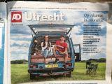 In de media, AD voorpagina: 'Ware run op campers'