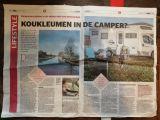 In de media, De Telegraaf: Koukleumen in de camper?