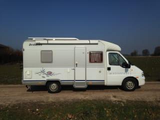 Fiat Dethleff T 5801 – Familiecamper geniet met uw gezin van uw vakantie!