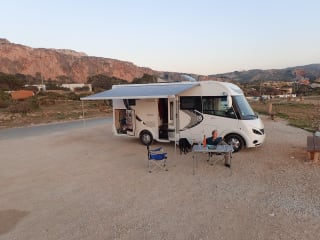 Luxury Integrated motorhome for rent in central France