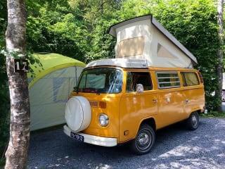 Sunny – Groovy hippiebus volkswagen T2 mellow yellow