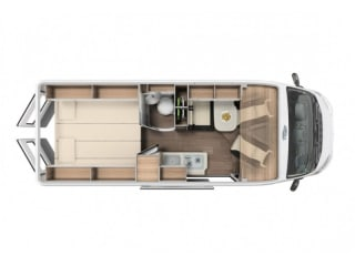 Spacious camper with 3 beds / SSB3