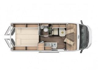 Geräumiges Wohnmobil mit 3 Betten / SSB3