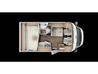Comfortable camper with 3 berths / CC3