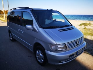 In Sardinia with the Mercedes Vito