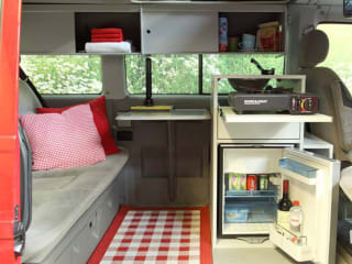 Paarse TDI – VW MULTIVAN CAMPER AIRCO BIG BED !!