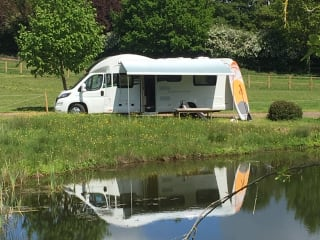 Big Bessie – (Bessacarr 496) 2017 Ducato 6 berth Luxury RV (C1 licence required).
