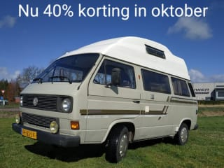 "Cassie – 40% discount in October Volkswagen T3 camper ""Cassie"""