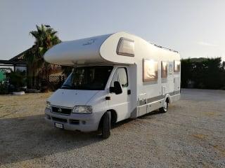 Camper Knaus 6 posti ampio garage