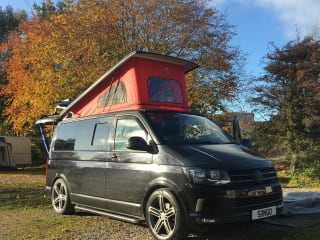 Black Beauty – Black beauty, our Vw T6 top of the range transporter