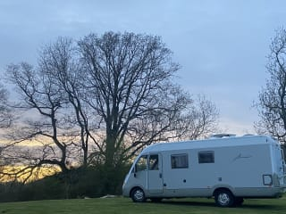 'Amory' our Glampervan from an extingushed glamping site.